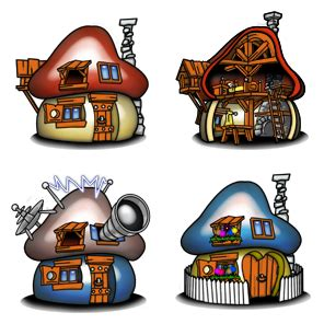 Design House Free smurf houses 4 free icons icon search engine
