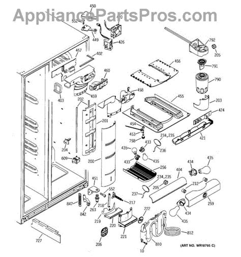 ge appliances parts diagrams ge wr55x10120 board assembly te appliancepartspros