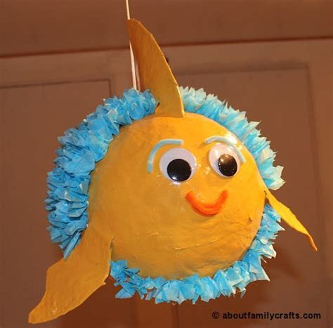How To Make A Paper Mache Pinata Without A Balloon - how to make a paper mache fish 6 ideas tiny fry
