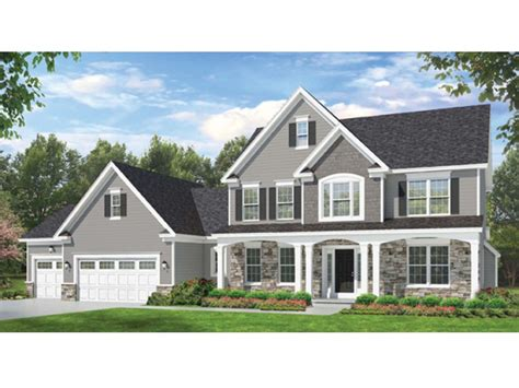 Colonial Farmhouse Plans Eplans Colonial House Plan Space Where It Counts 2523 Square And 4 Bedrooms From Eplans