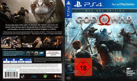 Dvd Ps4 God Of War god of war ps4 day one edition cover german usk 18