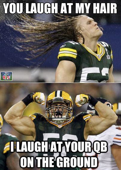 Funny Green Bay Packers Memes - clay matthews hair daily snark
