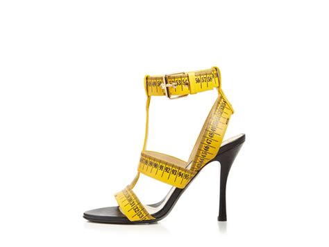yellow high heel sandals moschino t sandals ruler high heel in yellow lyst
