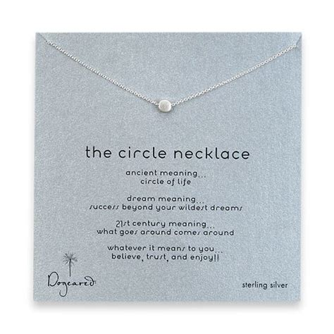 circle necklace and sweet on