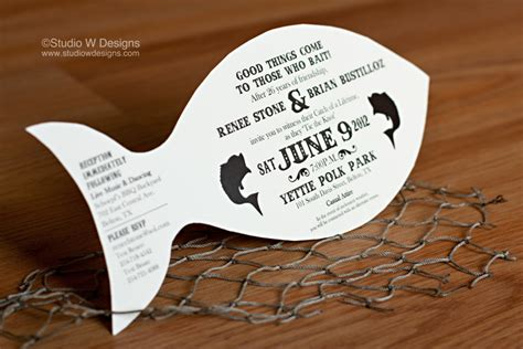 Wedding Invitations Lake Theme by Bass Fishing Wedding Invitation