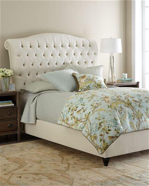 haute house tufted ivory velvet bed