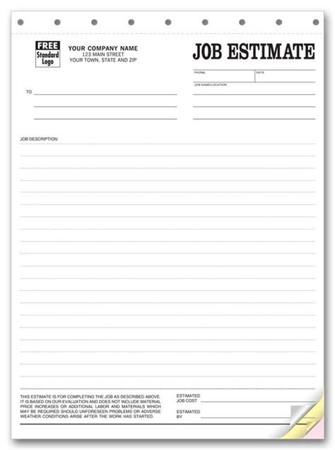 printable quote template printable blank bid proposal forms printable quote