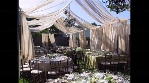 best small garden wedding decorations