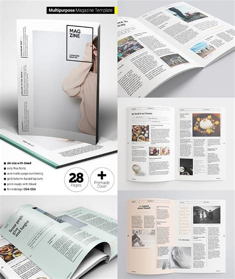 30 Creative Magazine Print Layout Templates For Free Free Premium Templates Magazine Layout Template