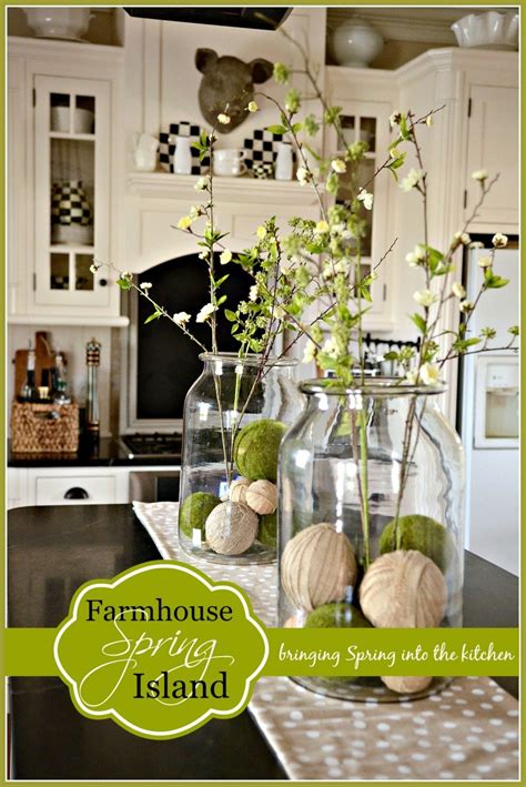 home goods decorations farmhouse spring island vignette stonegable