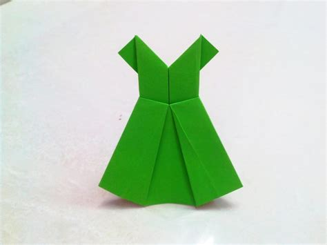 One Fold Origami - free coloring pages how to make an origami paper dress 1