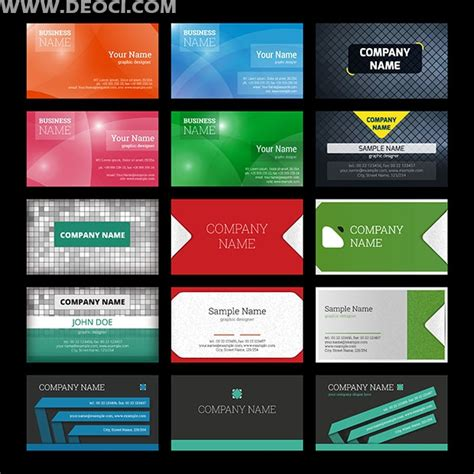 fashion creative business card design template set deoci