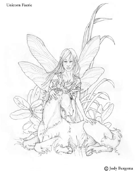 fairy unicorn coloring page free unicorn and fairy coloring pages