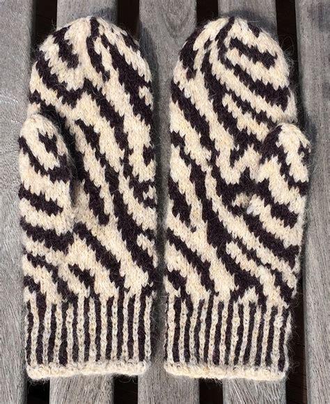 zebra pattern yarn free knitting pattern zebra mittens knitting with rowan