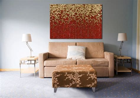 red and gold home decor home decorating with modern art