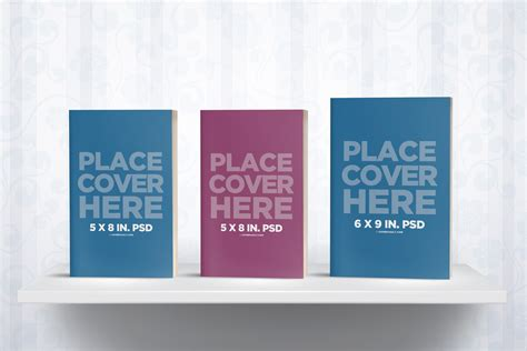 3 of a books covervault free psd mockups for books and more