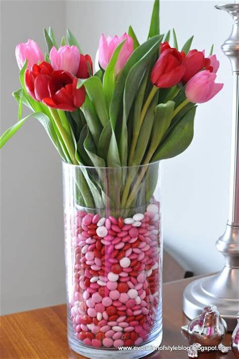 Ideas To Fill Glass Vases by Tulip And M M Vase Place A Smaller Glass Vase Inside A