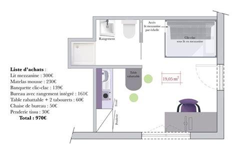 Aménager Un Studio étudiant by Comment Faire Une Mezzanine Construire Une Mezzanine