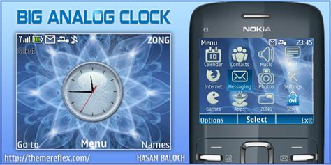 themes clock nokia x2 big analog clock theme for nokia c3 x2 01 themereflex