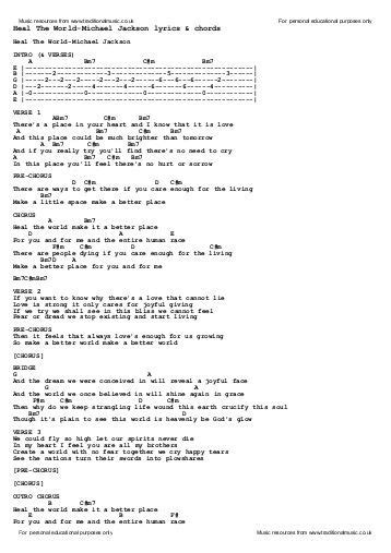 testo heal the world michael jackson abc 123 lyrics