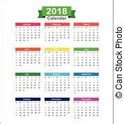 Calendar 2018 Clipart 2018 Calendar Clipart Vector And Illustration 380 2018