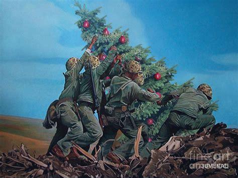 marines raise christmas tree digital art by joseph juvenal