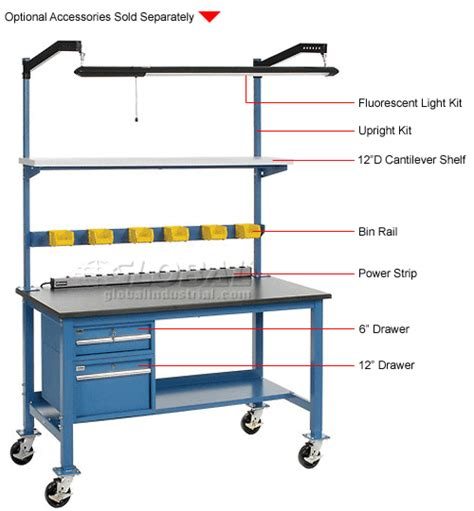 mobile lab bench laboratory work bench mobile 60 x 30 phenolic resin
