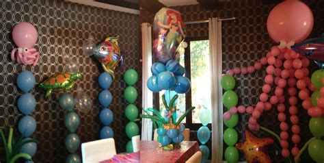 Little mermaid balloon decorations celebrity party planner