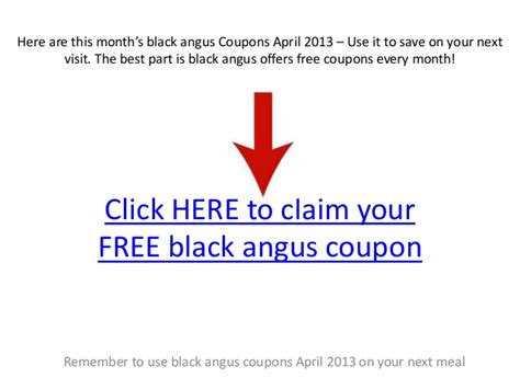 Black Angus Coupons April 2013 Country Buffet Application