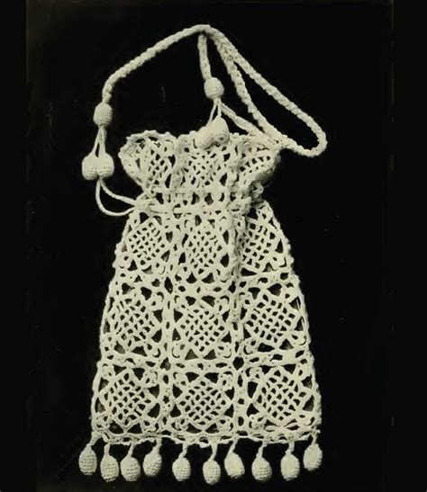 pattern crochet reticule items similar to empire reticule bag vintage crochet