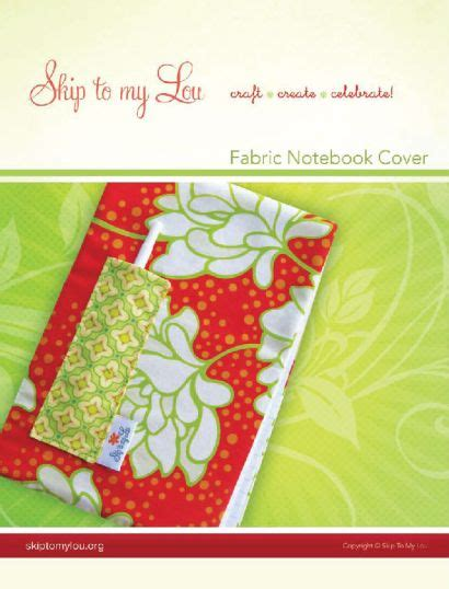 notebook pattern download diy fabric notepad cover skip to my lou