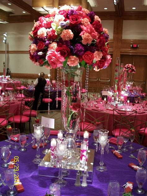 436 Best Images About Fuschia Wedding Ideas On Pinterest Pink And Purple Centerpieces