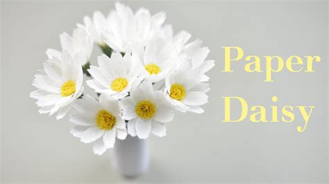 How To Make Paper Daisies - crepe paper tutorial paper flower creative diy