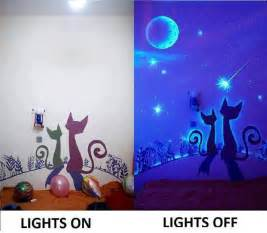 Glow In The Dark Wall Murals glow in the dark paint wall murals diy cozy home