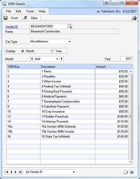 1099 invoice template 1099 reporting or not microsoft dynamics gp community