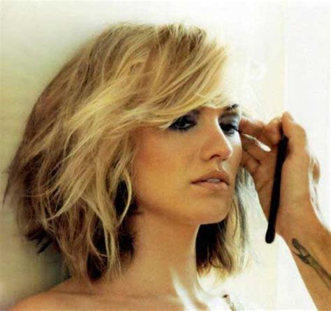 layers underneath hair for body damage hair layered wavy bob this color would probably work well too
