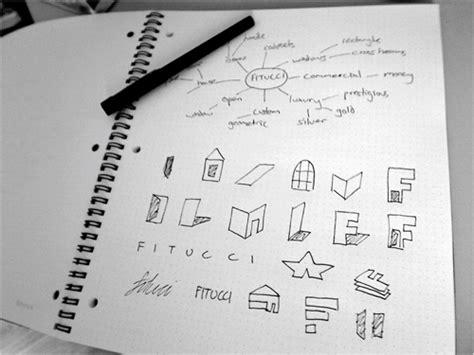 the sketchbook logo logo design process for fitucci just creative