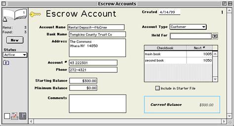 Image Gallery Escrow Account