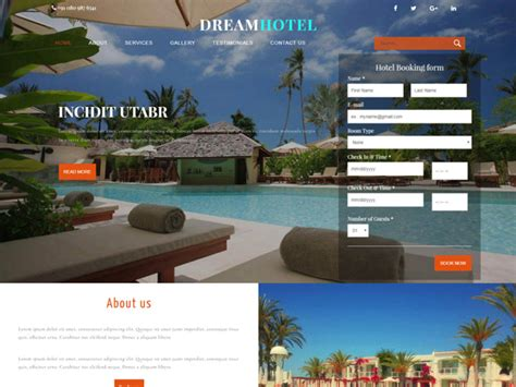 bootstrap templates for hotel free download dream hotel bootstrap hotel template freemium download