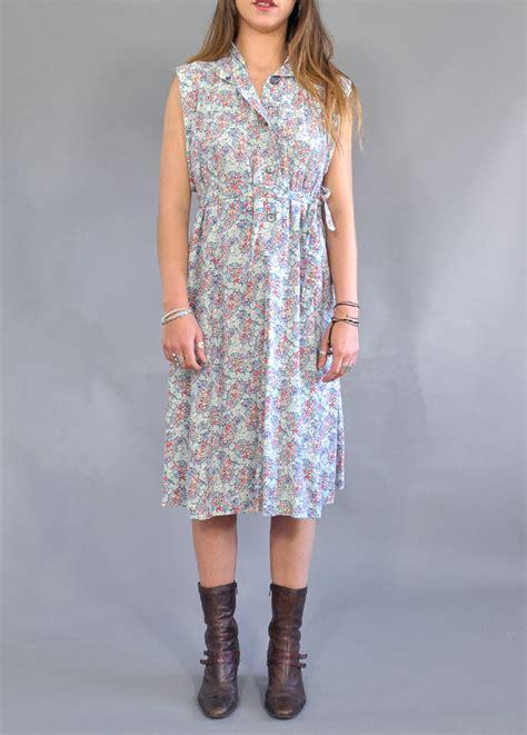 vintage liberty floral smock dress vintage dresses