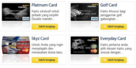 Mengenal Jenis Kartu Kredit Mandiri