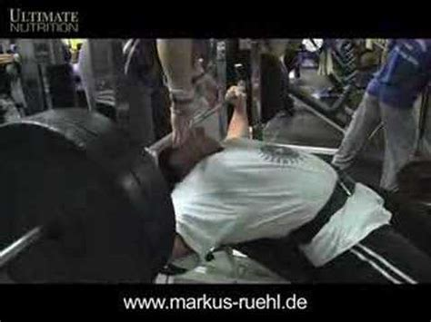 markus ruhl bench press markus r 252 hl easy off season training for foto shooting