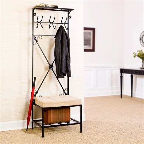 entryway bench seat southern enterprises entryway storage rack bench seat