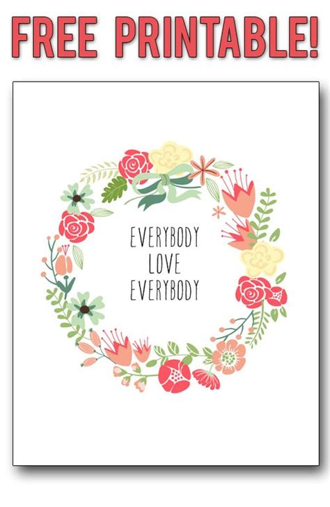 printable vintage quotes free printable everybody love everybody family rule in a