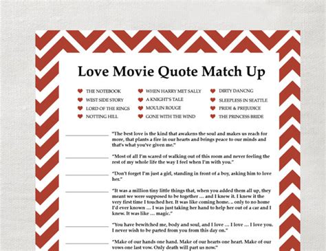 printable match up games instant love quote matchup instant download by laurevansdesign