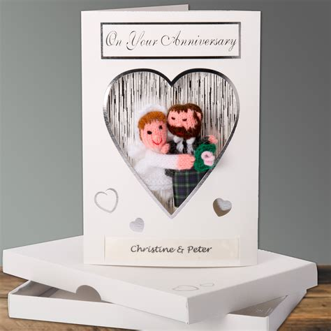 Wedding Anniversary Cards Bulk by Scottish Anniversary Card With Finger Puppets To Match The