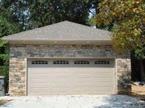 garage brick front gray concrete driveway design towards the designed with