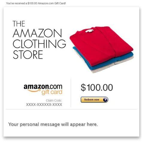 Clothing Store Gift Cards - amazon gift card e mail amazon clothing store kalnalawurnkim