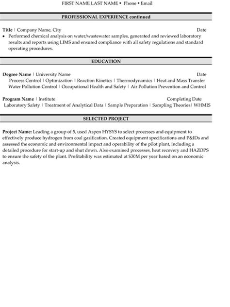 Environmental Technician Sle Resume by Environmental Technician Resume Sle Template