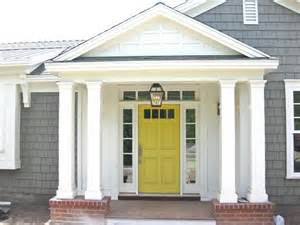 door house grey house with yellow red front door design ideas 2017 pics included